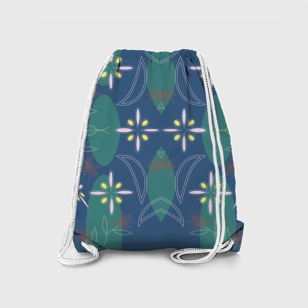 Рюкзак «abstract seamless floral pattern exotic shapes»