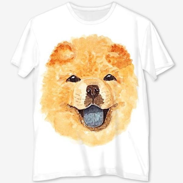 Футболка с полной запечаткой «Собака чау-чау»