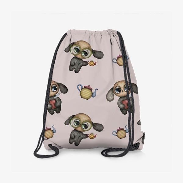 Рюкзак «Чаепитие с собачками»