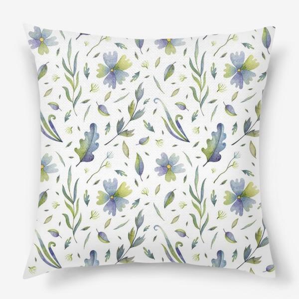 Подушка «Полевые цветы и травы»