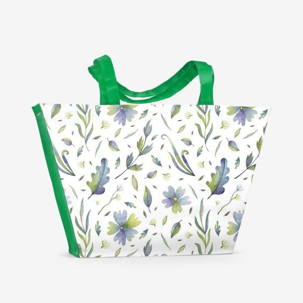 Пляжная сумка «Полевые цветы и травы»