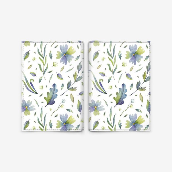 Обложка для паспорта «Полевые цветы и травы»