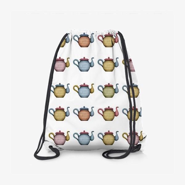 Рюкзак «Разноцветные чайники»