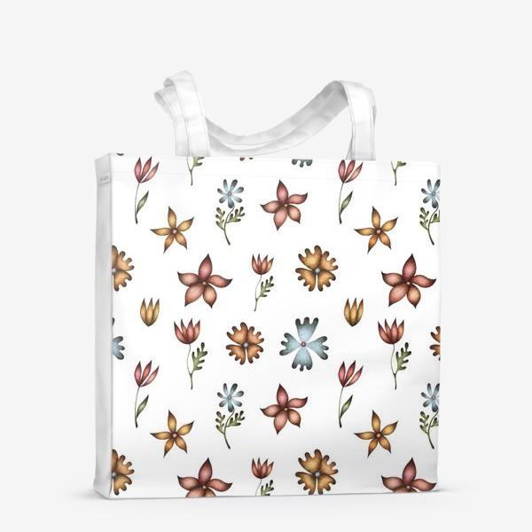 Сумка-шоппер «Весенние полевые цветы»