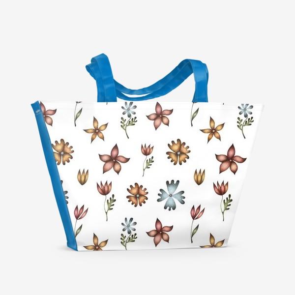 Пляжная сумка «Весенние полевые цветы»