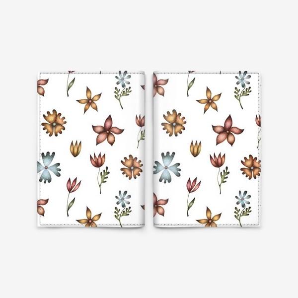 Обложка для паспорта «Весенние полевые цветы»
