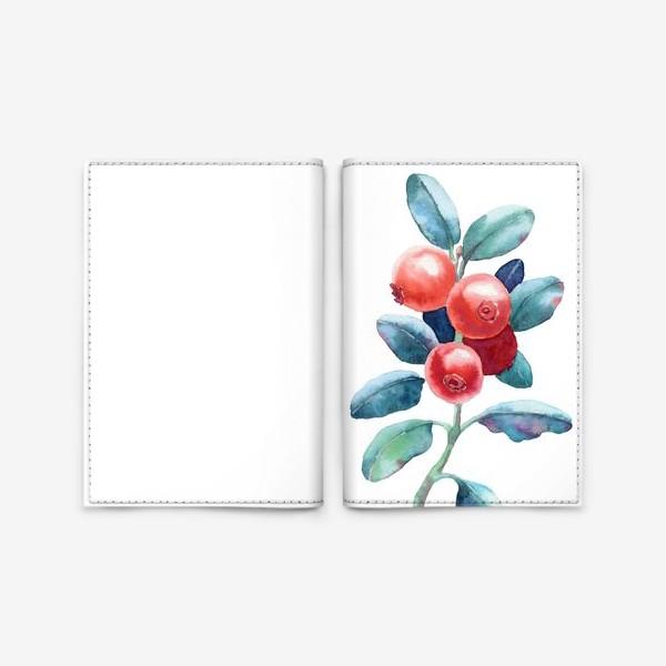 Обложка для паспорта «Брусника»