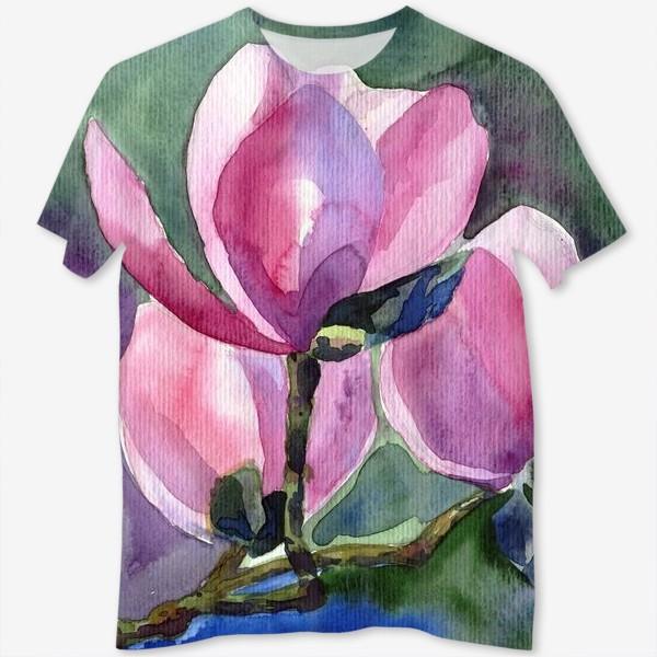 Футболка с полной запечаткой «Blossoming Magnolia»