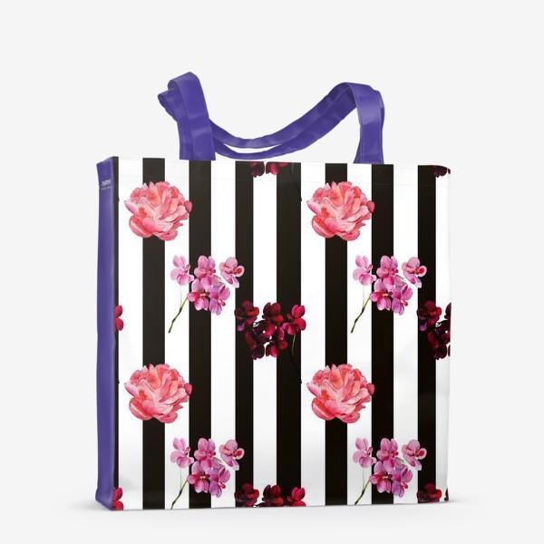 Сумка-шоппер «орхидея и пион»