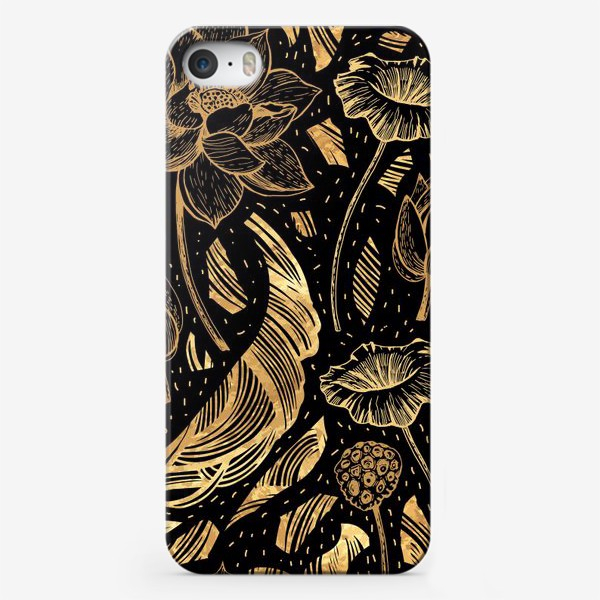 Чехол iPhone «Золотые узоры»