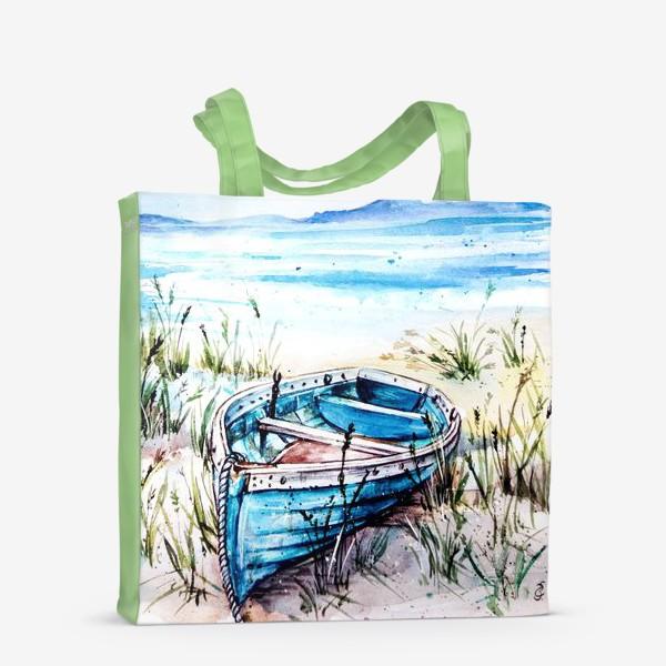 Сумка-шоппер «лодка на берегу»