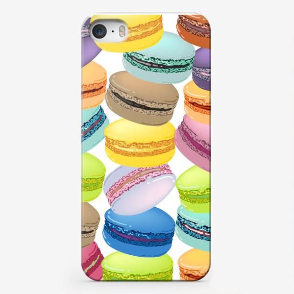 Чехол iPhone «Паттерн из макарунов»