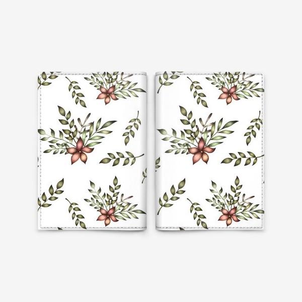 Обложка для паспорта «Паттерн с цветочной композицией»