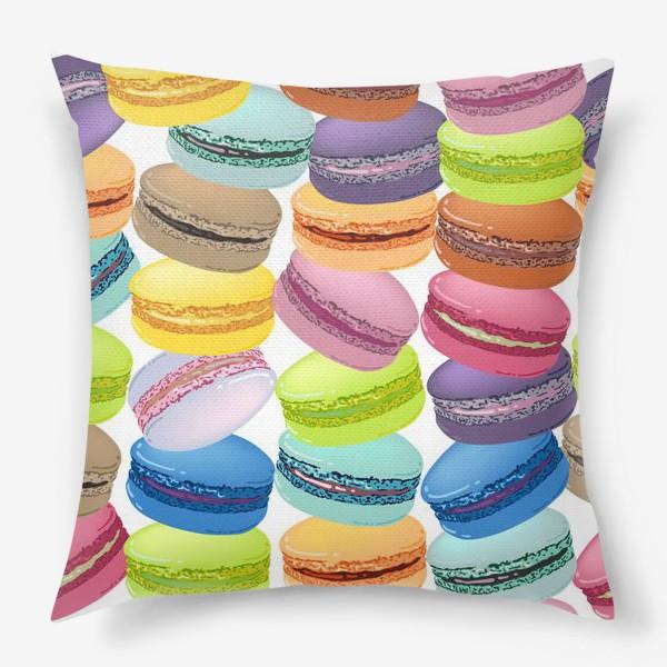 Подушка «Паттерн из макарунов»