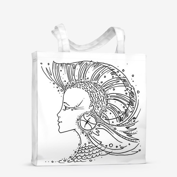 Сумка-шоппер «Рыбы зодиак»