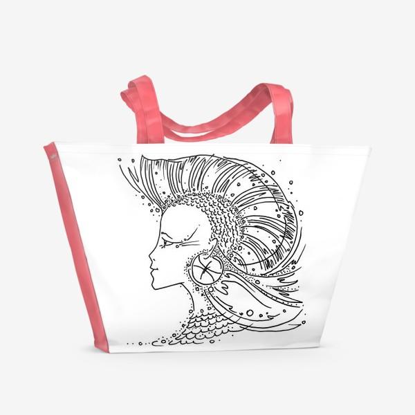 Пляжная сумка «Рыбы зодиак»