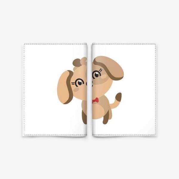 Обложка для паспорта «Милая собачка с бантиком»