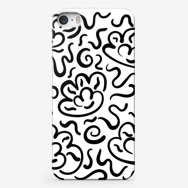 Чехол iPhone « Цветы и зигзаги»