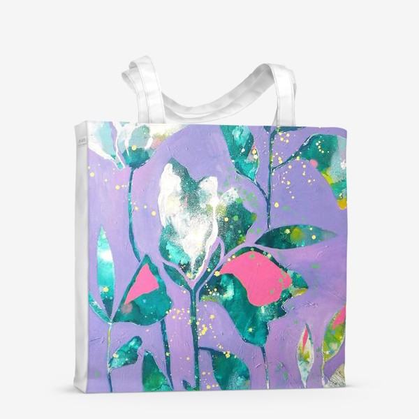 Сумка-шоппер «Весенние цветы на сиреневом»