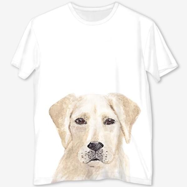 Футболка с полной запечаткой «Собака лабрадор»