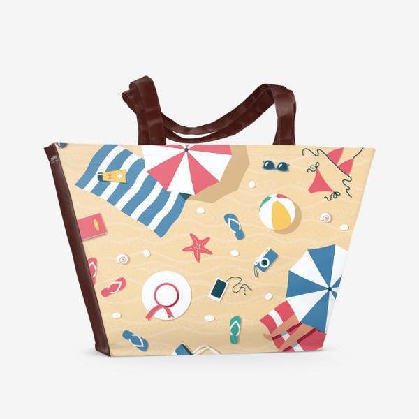 Пляжная сумка «Полет над пляжем (крупный)»