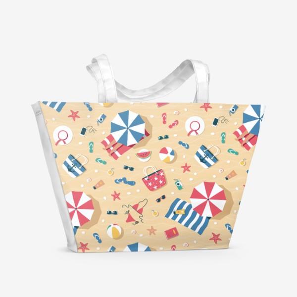 Пляжная сумка «Полет над пляжем (мелкий)»