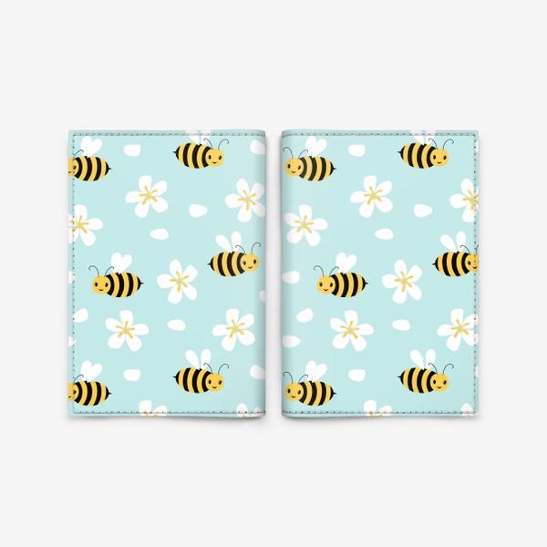 Обложка для паспорта «Пчелки в небе»