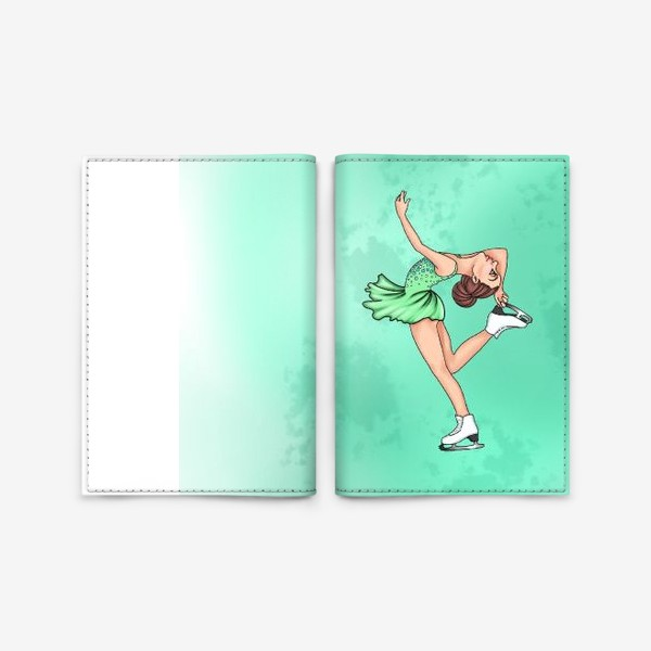 Обложка для паспорта «фигурное катание. спорт»