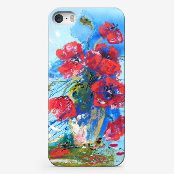 Чехол iPhone «Маки на голубом»