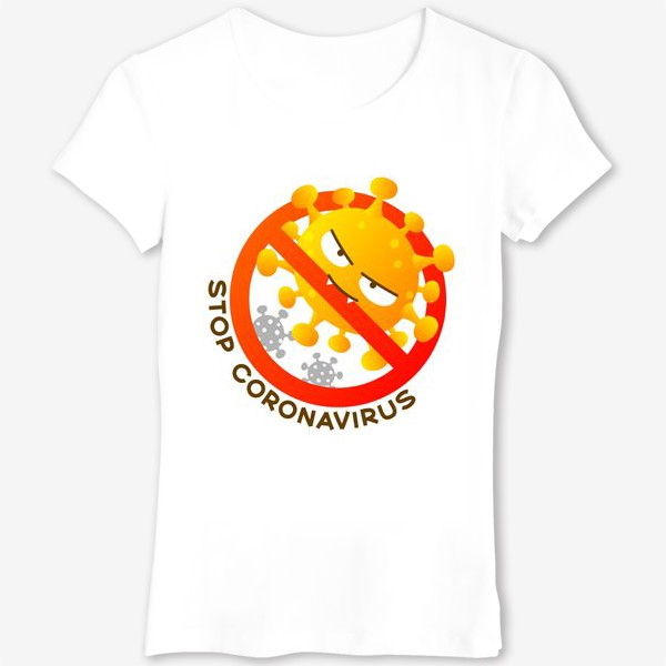 Футболка «Останови коронавирус»
