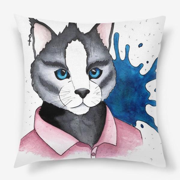 Подушка «Кот на стиле»
