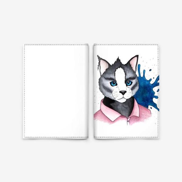 Обложка для паспорта «Кот на стиле»