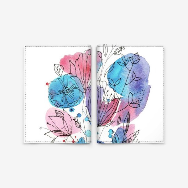 Обложка для паспорта «Небрежный букет»