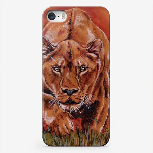 Чехол iPhone «львиная охота »