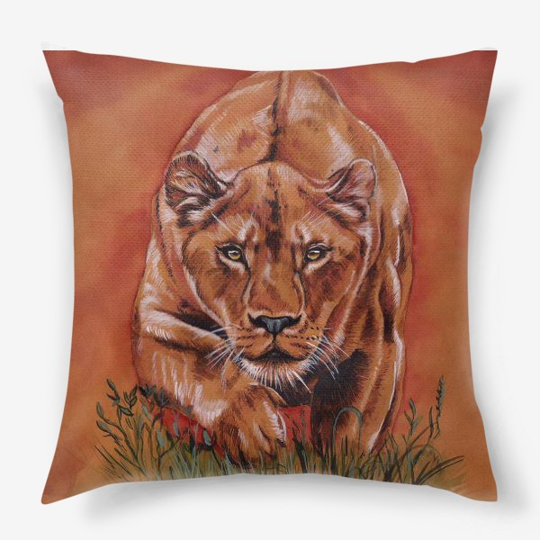 Подушка «львиная охота »