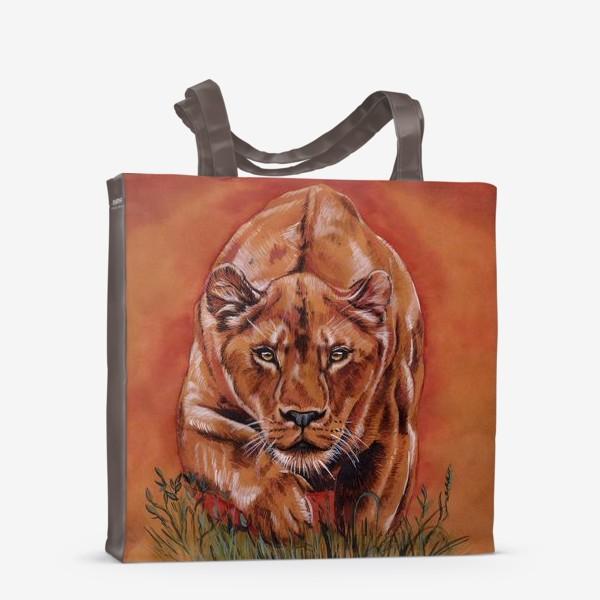 Сумка-шоппер «львиная охота »