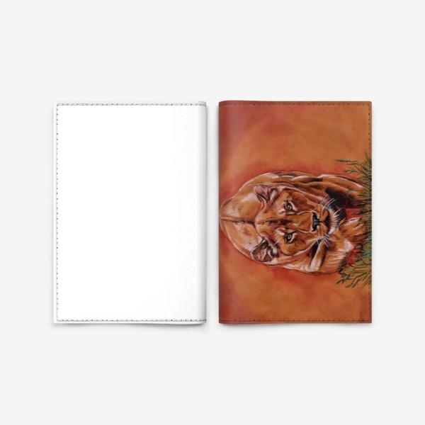 Обложка для паспорта «львиная охота »