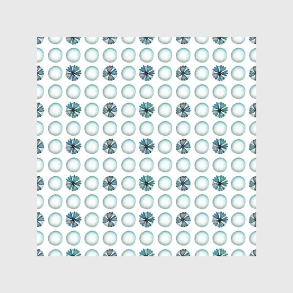 Шторы «Геометрический паттерн в голубых оттенках»