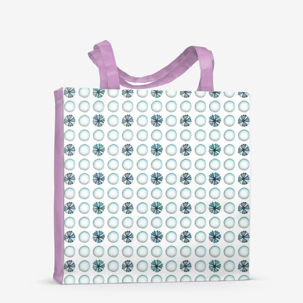 Сумка-шоппер «Геометрический паттерн в голубых оттенках»