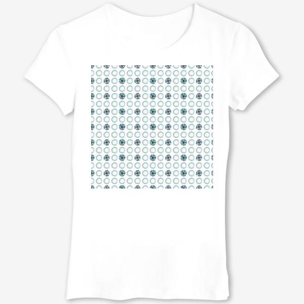 Футболка «Геометрический паттерн в голубых оттенках»