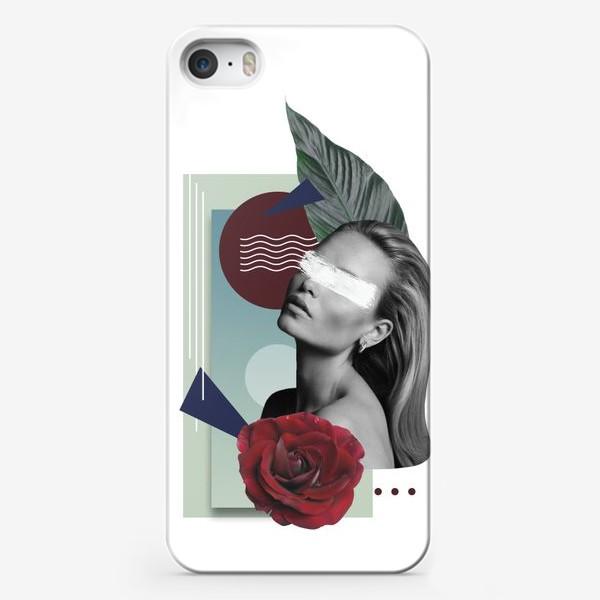 Чехол iPhone «Коллаж Девушка»