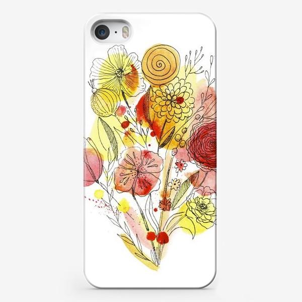 Чехол iPhone «Красные цветы»