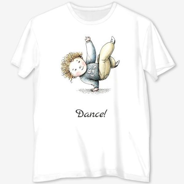 Футболка с полной запечаткой «Танцуй!»