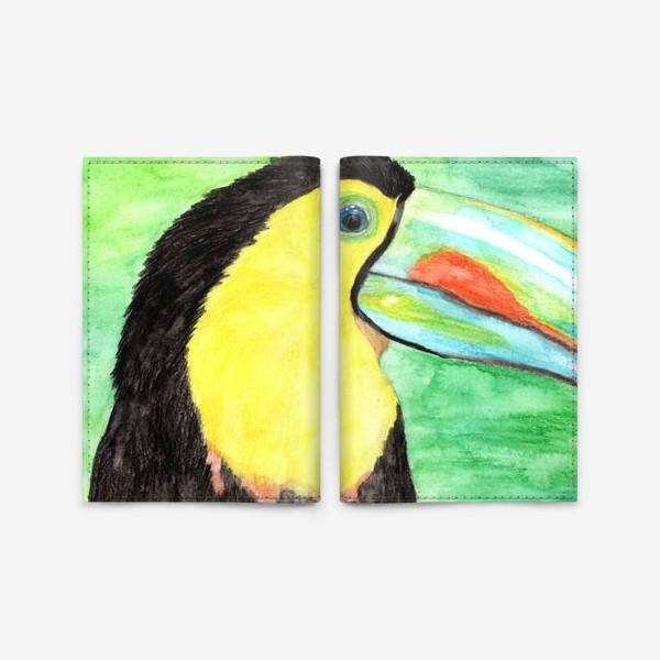 Обложка для паспорта «Радужный тукан»