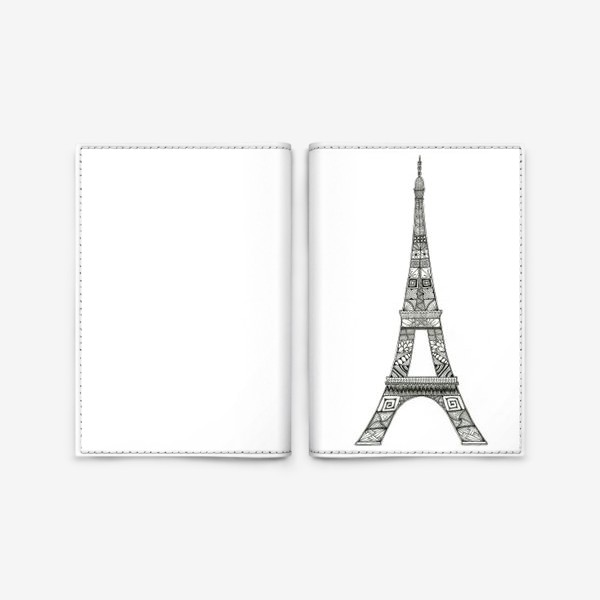Обложка для паспорта «Эйфелева башня»