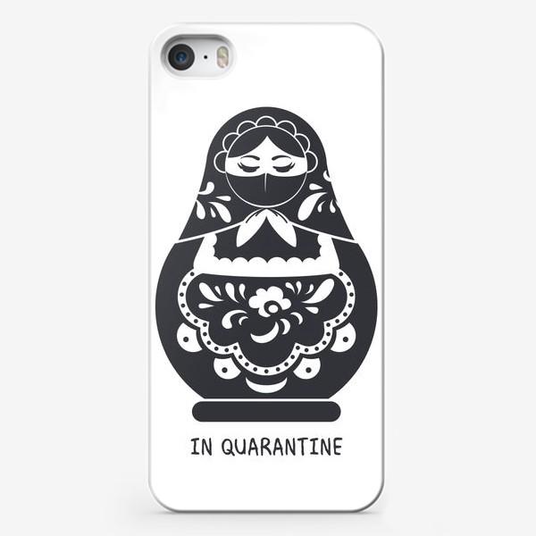 Чехол iPhone «Матрёшка на карантине. in quarantine»