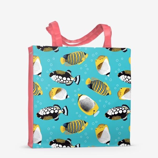 Сумка-шоппер «Тропические рыбки в море»