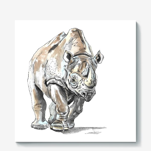 Холст «Африканский носоро»