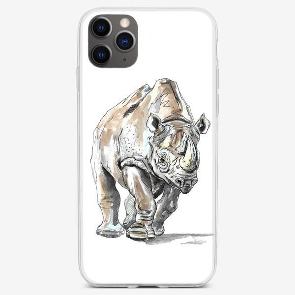 Чехол iPhone «Африканский носоро»