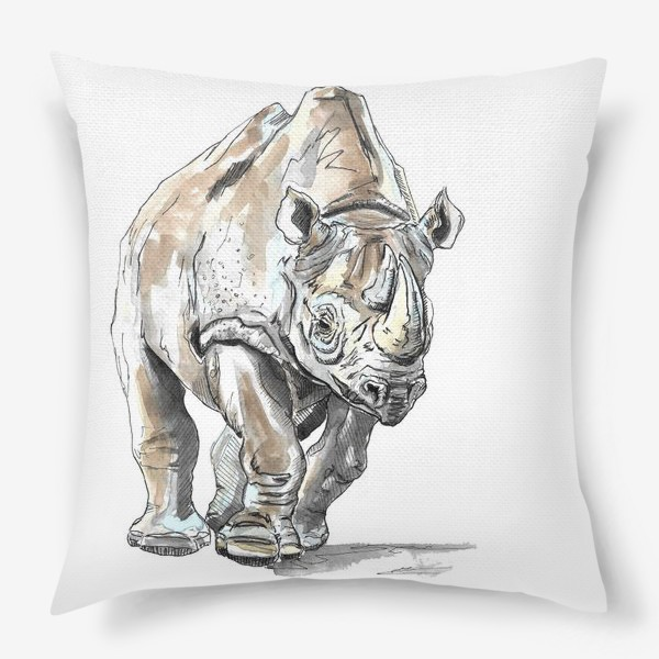 Подушка «Африканский носоро»